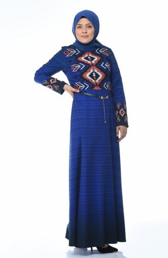 Saks-Blau Hijap Kleider 7K3708101-02