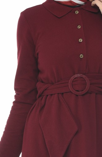 Claret red Dress 5039-08