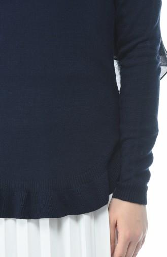 Trikot Schlicht Pullover 1954-09 Dunkel Blau 1954-09