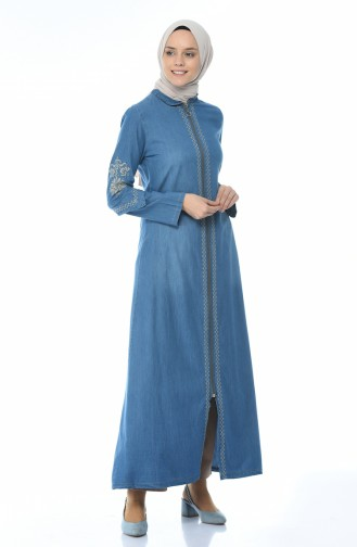 Embroidered Jeans Dress Jeans Blue 1280-02