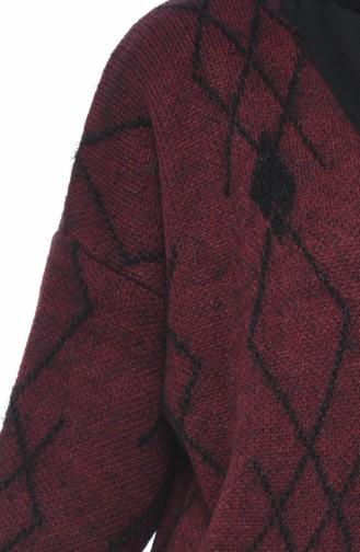 Bat Sleeve Tricot Cardigan Bordeaux 1927-06
