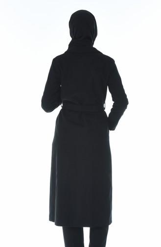 معطف شتوي بحزام أسود 8412-04