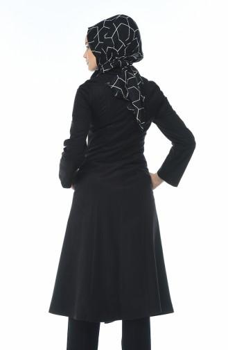 معطف مخمل بسحاب أسود 0098-03