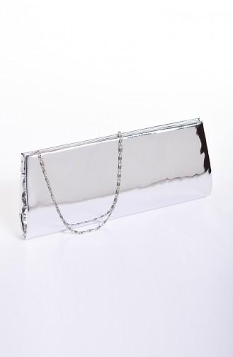 Women´s Mirror Evening Bag Silver Gray 0508-04