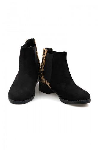 Damen Stiefel 26037-09 Schwarz Leopard 26037-09