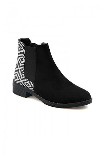 Women´s Boots Black White 26037-10