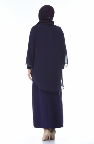 Robe de Soirée Grande Taille 3149-03 Pourpre 3149-03