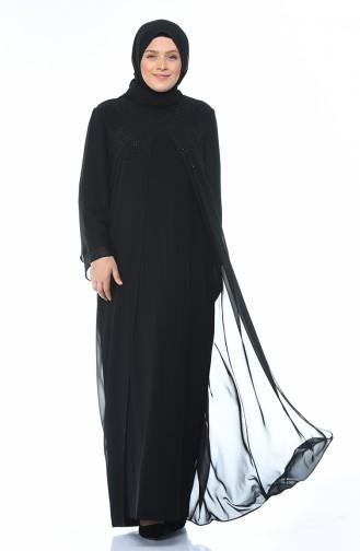 Black İslamitische Avondjurk 6256-01
