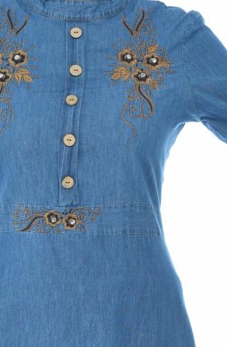 Besticktes Jeans Kleid 88571-02 Jeans Blau 88571-02
