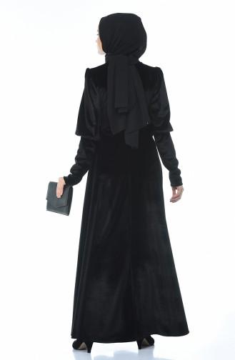Schwarz Hijap Kleider 60053-01