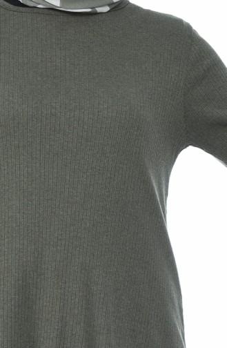 Asymmetrische Tunika 2002-04 Khaki 2002-04