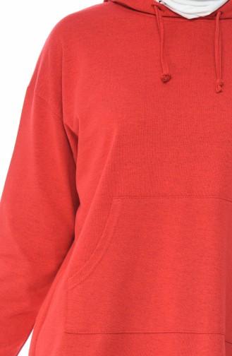 Tunika mit Kapuze 4420-01 Rot 4420-01