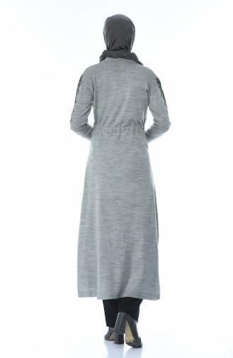 Tricot Long Tunic Gray 1900-05