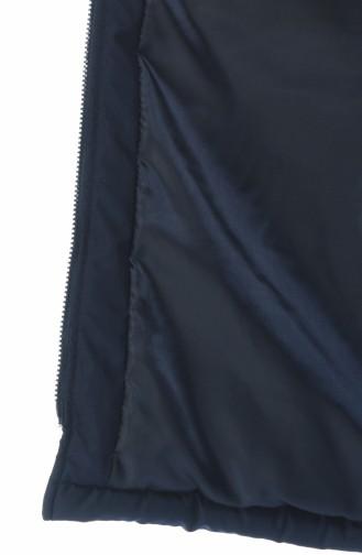 سترة بدون أكمام أزرق كحلي 1973-03