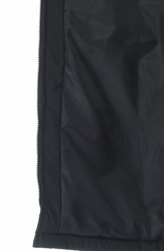 سترة بدون أكمام أسود 1973-04