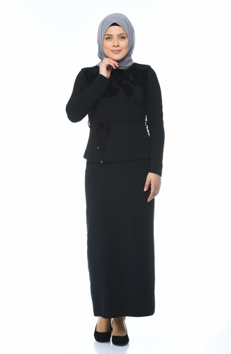 Taş Baskılı Bluz 8K6803336-01 Siyah 8K6803336-01