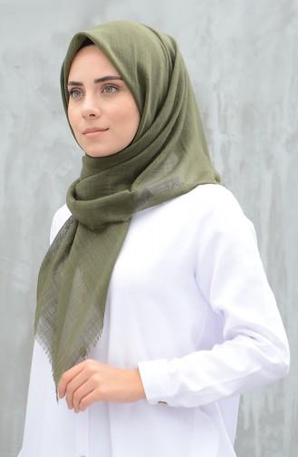 Plain Cotton Scarf Khaki 901529-13