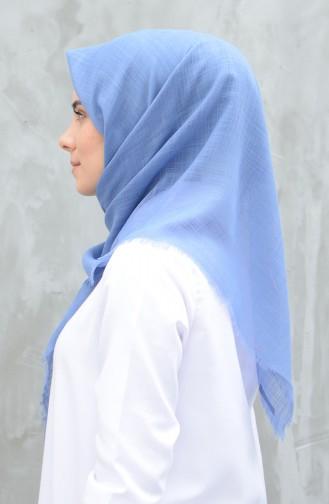 Plain Cotton Scarf Light Blue 901529-17
