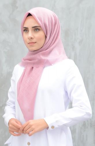 وشاح قطني سادة زهري داكن 901529-20