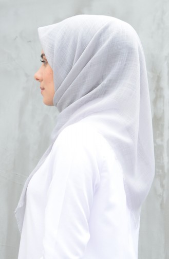Plain Cotton Scarf Light Gray 901529-25
