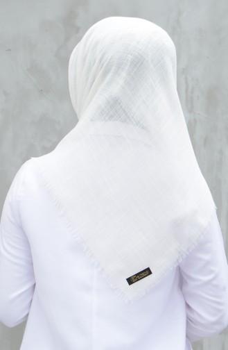 Plain Cotton Scarf Ecru 901529-28