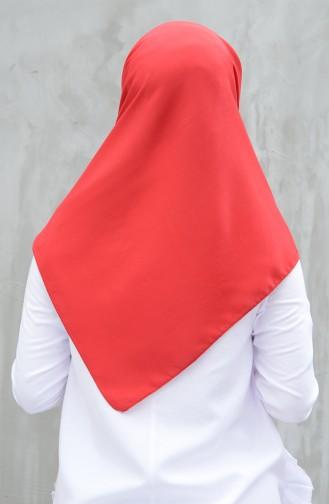 وشاح قطني سادة أحمر 901539-04