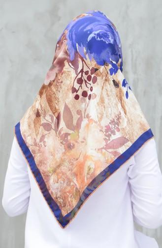 Karaca Twill-Schal aus synthetischer Seide  90598-11 Senf Lila 90598-11