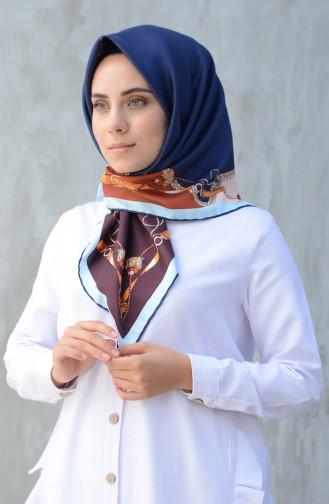 Karaca Sentetik İpek Twill Eşarp 90601-08 Lacivert Mavi 90601-08