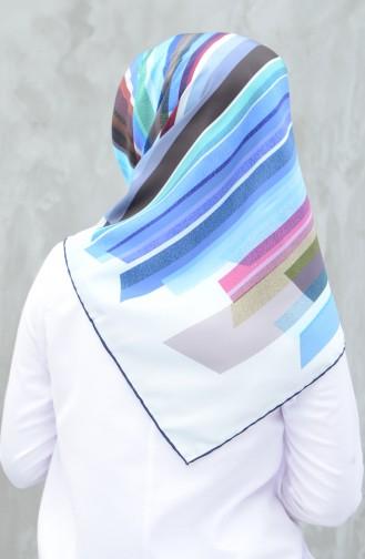 Karaca Twill-Schal aus synthetischer Seide 90603-11 Dunkelblau Blau 90603-11