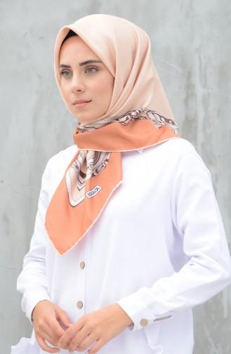 كاراجا وشاح حرير صناعي سومون وبرتقالي 90604-04