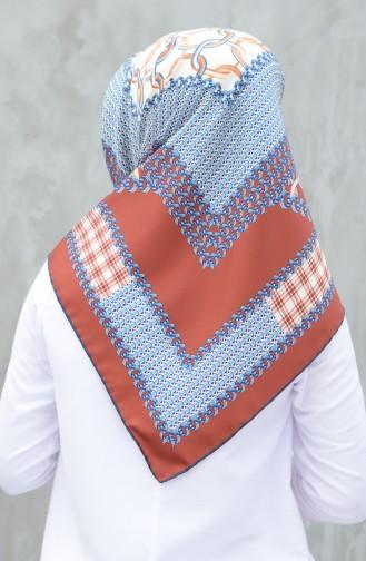 Karaca Synthetic Silk Twill Scarf Navy BlueBrick 90605-02