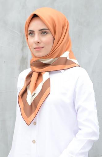 كاراجا وشاح حرير صناعي برتقالي فاتح 90606-11