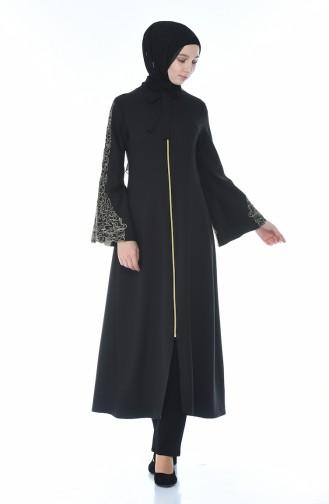 Abaya Brodée 2134-01 Noir 2134-01
