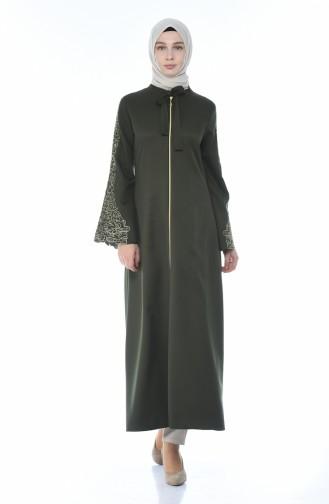 Abaya Brodée 2134-05 Khaki 2134-05
