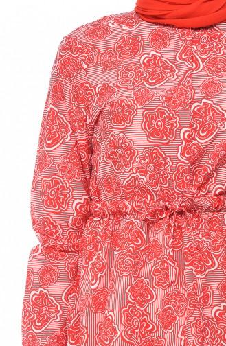 Desenli Gömlek 0016-01 Kırmızı 0016-01