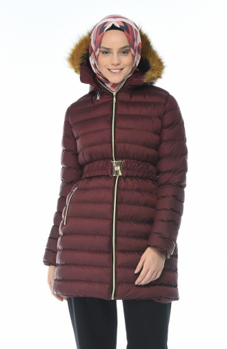 Hooded Inflatable Coat Bordeaux 0097-03