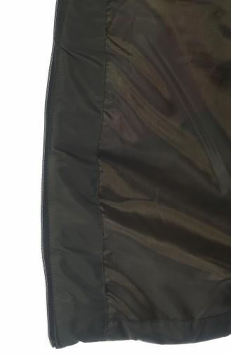 Aufblasbarer Mantel mit Kapuze 0097-06 Khaki 0097-06