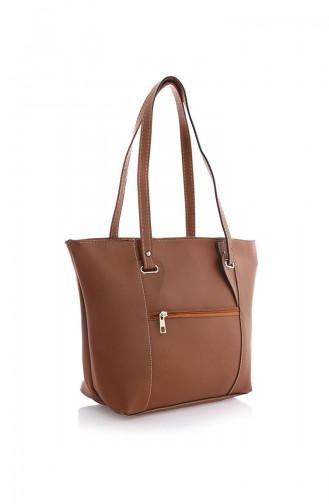 Stilgo Women´s Shoulder Bag Brown Tobacco 38Z-05