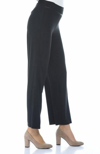 Suede Wide Trousers Black 5K1500500-02