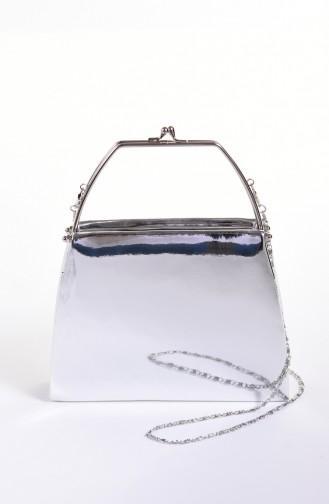 Women´s Mirror Evening Bag Silver Gray 0509-04