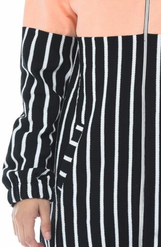 Fermuarlı Garnili Sweatshirt 1586-06 Yavruağzı 1586-06
