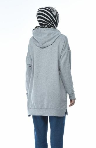 Hooded Sweatshirt Gray 6388-02