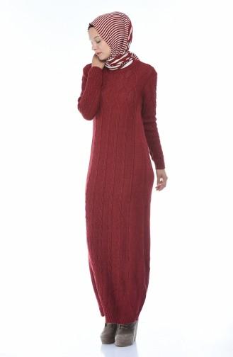 فستان أحمر كلاريت 1908-10