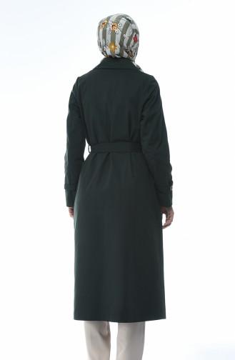 ترانشكوت قماش جبردين أخضر زمردي 1235-04