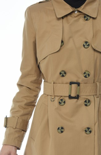 Trench Coat a Boutons 6713-01 Moutarde 6713-01
