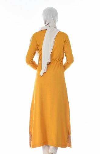 Tricot Long Tunic Mustard 1900-07