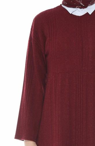 Tricot Long Tunic Bordeaux 6403-03