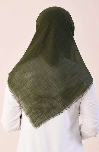 Plain Cotton Scarf Khaki 2377-03