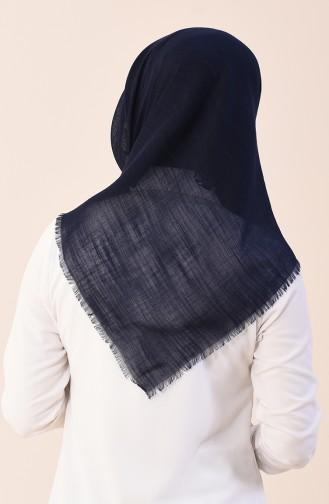 Plain Cotton Scarf Navy Blue 2377-13