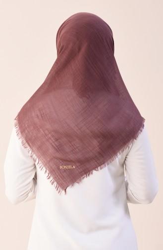 Plain Cotton Scarf Light Brown 2377-25